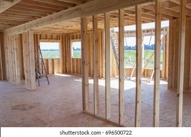 New framework house - under construction.