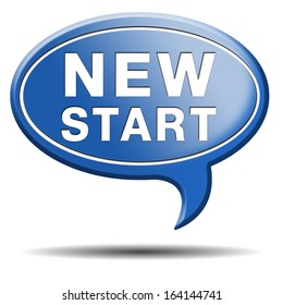 new fresh start or chance back to the beginning and do it again button icon or sign