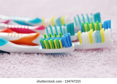 new and fresh toothbrushes - beauty treatment