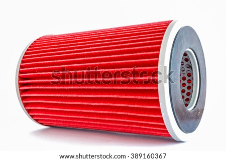new fuel filter cartridge with white background,oil filter,dust filter,  engine filter