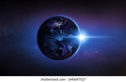 New Full-hemisphere Views of Earth