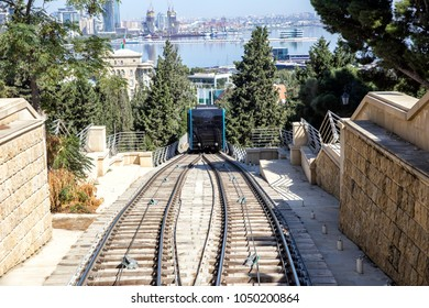 New funicular in Baku. Republic of Azerbaijan