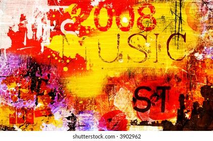 new generation music concept- grunge background