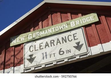 New Germantown Covered Bridge, Perry County, Pennsylvania, USA