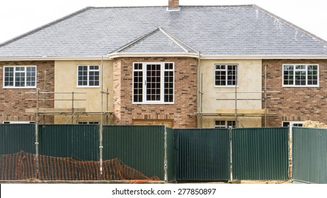 New grand English mansion house being built with details of its architecture