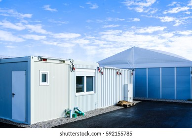 new gray mobile home container