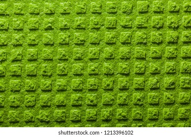 New green kitchen washcloth background.