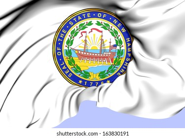 New Hampshire Coat of Arms, USA. Close Up.