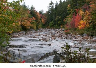 New Hampshire Fall along River