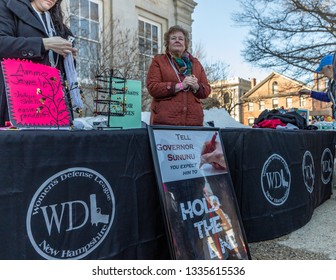 New Hampshire Gun Rights Rally at the Capital House in Concord, NH.  Saturday, March 9, 2019. Vendor at the event.