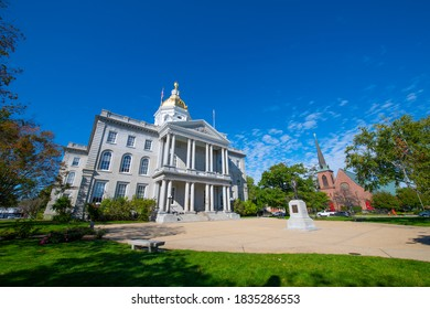 New Hampshire State House, Concord, New Hampshire, USA. New Hampshire State House is the nation's oldest state house, built in 1816 - 1819.