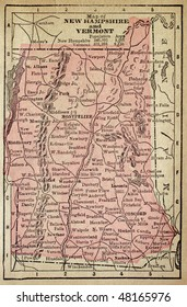 New Hampshire and Vermont, circa 1880. See the entire map collection: http://www.shutterstock.com/sets/22217-maps.html?rid=70583