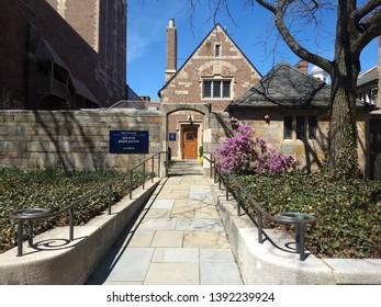 New Haven, CT/USA -April 17, 2019 Yale University Alumni Association Office Building