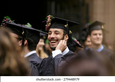 New Haven - May 18: Yale University graduation ceremonies on Commencement Day on May 18, 2015. Yale University is a private Ivy League research university in New Haven, Connecticut. Founded in 1701