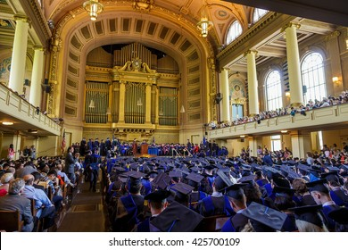 New Haven - May 23: Yale University graduation ceremonies on Commencement Day on May 23, 2016. Yale University is a private Ivy League research university in New Haven, Connecticut. Founded in 1701