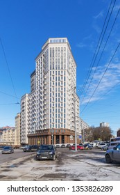 New high-rise building in the center of Nizhny Novgorod, Russia