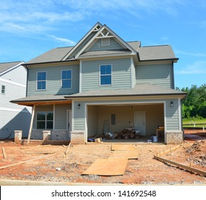 New home being constructed to sell al Georgia, USA.