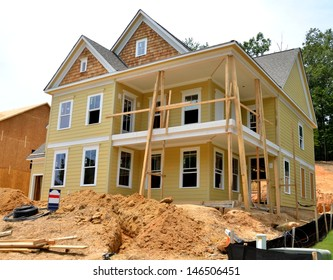 New home being constructed to sell at Georgia, USA.