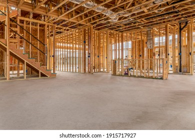 New Home Construction with concrete slab flooring.