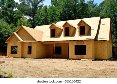 New home construction at Georgia, USA.