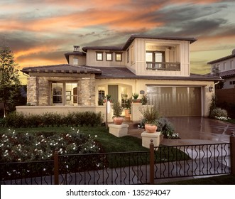 New Home House Exterior Architecture Stock Images, Architectural Photos By  Frank Short. Photo Images