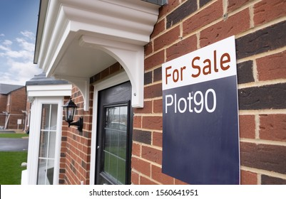 New home for sale on british construction site,