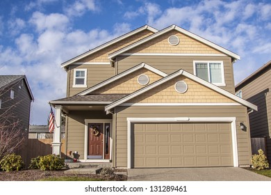 new home in the suburbs of the United States