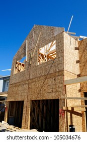 A New Home  Under Construction In North America