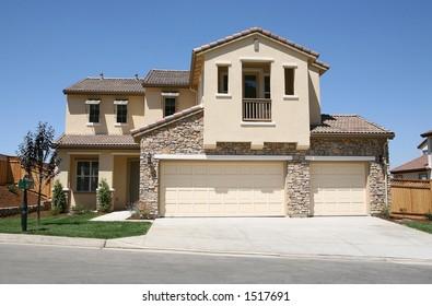 New home in upscale neighborhood