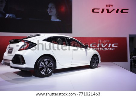 New Honda Civic Hatchback 2018 White Stock Photo Edit Now
