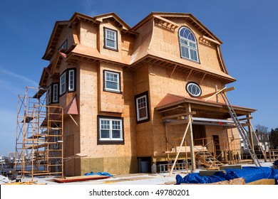 New House Construction on Bay