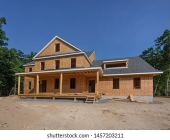 New house construction in the suburbs