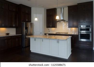 New house modern kitchen interior
