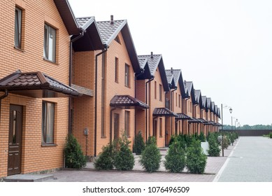 New houses. two rows of town houses