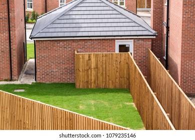 New housing built at Winnington Village, Winnington, Northwich, Cheshire UK.