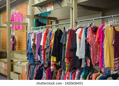 NEW IBERIA, L.A. / USA - MAY 28, 2019: The Arc of Acadian is a Resale Store that provides individuals with disabilities employment. The public donates and shops clothing and items for a low price.