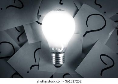 new idea concept question mark