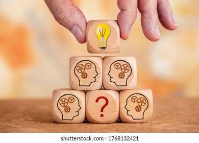Neue Ideen bringen Lösungen für Probleme und Fragen