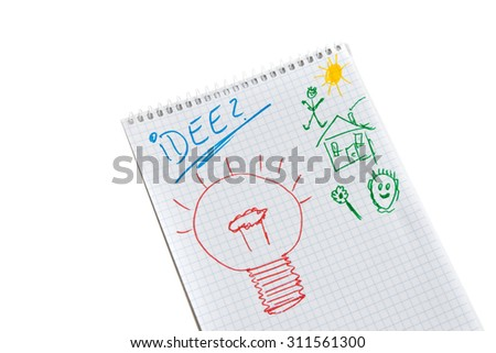 New Ideas Creativity Innovation Drawing Light Stock Photo Edit Now
