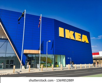 New IKEA Store, Greenwich, London, England, April 2019; this is the 22nd UK IKEA Store. IKEA, founded in Sweden in 1943, is the world's largest retailer of ready-to-assemble or flat-pack furniture.