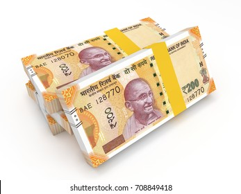 New Indian 200 Currency - 3D Rendered Image