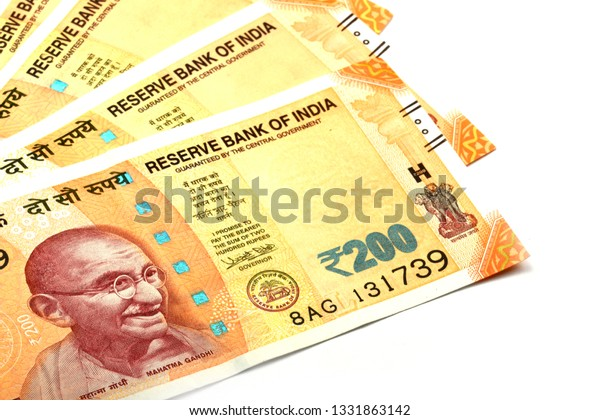 New Indian Currency 200 Rupee Note Stock Photo (Edit Now