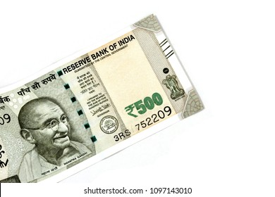 New Indian currency of 500 rupee note