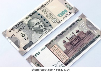 New Indian currency of 500 rupee notes.