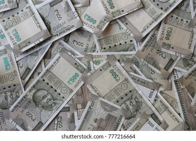 New Indian Currency Five Hundred Rupees Background