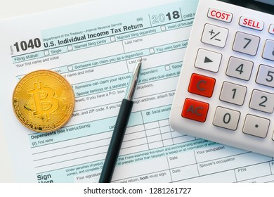 New IRS 1040 tax form used to calculate capital gain or loss for bitcoin trading