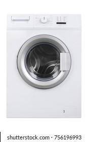 New isolated washing machine on a white background