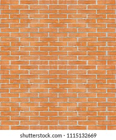 New italian brick wall background without plaster - seamless pattern useful for rendering