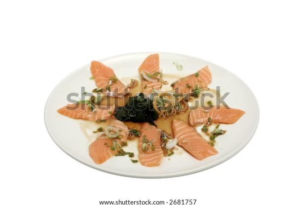New Japanese style sashimi, salmon