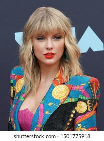 NEW JERSEY - AUGUST 26, 2019: Taylor Swift attends the MTV Video Music Awards at the Prudential Center on August 26, 2019, in Newark, New Jersey.